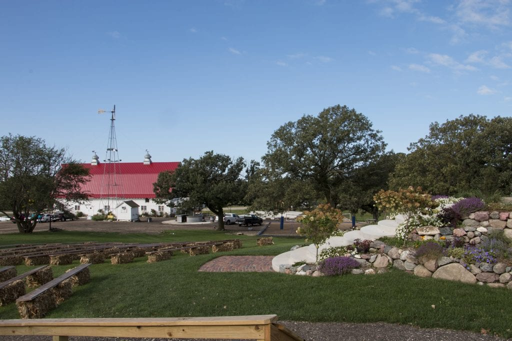 Landscaped View of The Barn