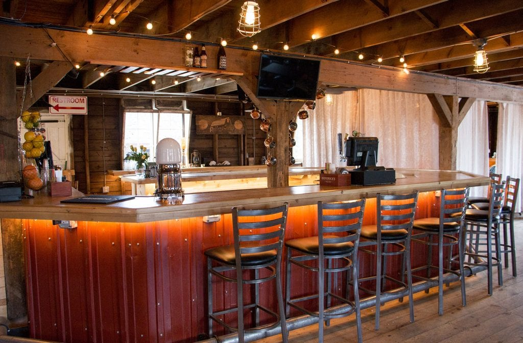 Main floor bar in The Barn